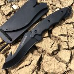 "7"" Black Skinner Knife with Sheath"