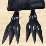 6 Pc Black Color Throwing Knife