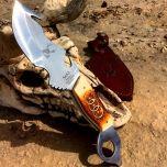 "8.5"" Skinner Knife Bone Handle Hunting Knife Stainless Steel"
