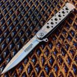 "7.5"" (S/A) Silver Folding Knife Stainless Steel Blade New"