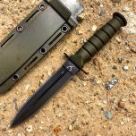 "Green 6"" Mini Survival Knife with Chain Holder & Sheath"