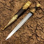 """16"""" Mongolian Collectible Style Dagger with Sheath"""