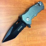 "6.5"" Metal Spring Assisted Knife  Tactical Team with Belt Clip"