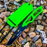 "6.5"" Zombie-War Skinner Hunting Outdoor Knife with Nylon Corded Whistle Sheath"