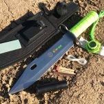 """13"""" Zomb-War Stainless Steel Bayonet w/ Sheath Fire Starter Fishing Survival Kit"""