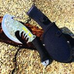 """11.5"""" Hunt-Down Wolf Axe Stainless Steel Blade Collectible"""