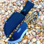 """10.5"""" Defender Xtreme Hunting Knife Full Tang with Camo Nylon Wrapped Handle"""