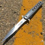 "9.5"" Defender Xtreme Folding Knife Reflective Metal"