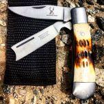 """6"""" The Bone Edge Practical Dual-Bladed Pocket Knife"""
