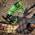 "Zomb-War 11"" Green Dragon Axe Outdoor Hunting Camping Survival Steel Axe"