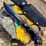 "Hunt-Down 10"" Stainless Steel Full Tang Survival Hunting Knife Tactical"