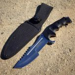 "Hunt-Down 11"" Stainless Steel Full Tang Survival Hunting Knife Tactical"