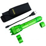 Defender-Xtreme High Powered Tactical Green Flashlight Self Defence Stun Gun