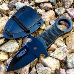 """Defender-Xtreme 5"""" Full Tang Tactical Survival Neck Knife with Sheath Black Handle"""