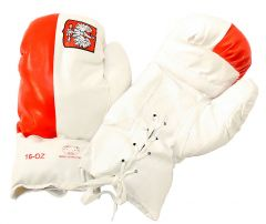 16oz Polish Flag Boxing Gloves