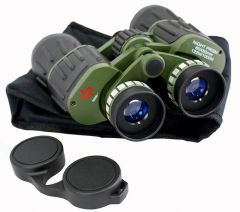 60x50 Perrini Day / Night Prism Black and Green Military Binoculars with Pouch