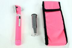 Fiber Optic Otoscope Mini Pocket Pink Medical Ent Diagnostic Set
