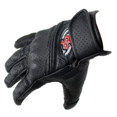 Perrini Pro Motorcycle Biker Racing Motorbike Leather Gloves Cross Line Perforated