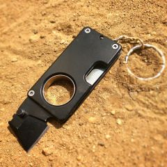 "Defender 3.5"" Stainless Steel Mini EDC Keychain Folding Knife Survival Tool Black"