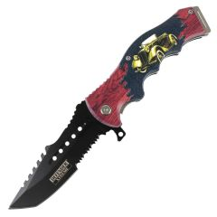 """Defender-Xtreme 8.5"""" 20'S Street Car Spring Assisted Folding Knife Stainless Steel"""