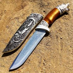 "Defender 13"" Medieval Dagger Roman Fantasy Daggers Stainless Steel Bear Handle"