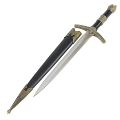 "TheBoneEdge 12"" Medieval Historical Short Sword Roman Dagger Knife With Scabbard"