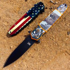 """TheBoneEdge 8"""" Bear Spring Assisted Folding Knife Tactical Rescue Sharp Knives"""