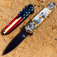 "TheBoneEdge 8"" Eagle Spring Assisted Folding Knife Tactical Rescue Sharp Knives"