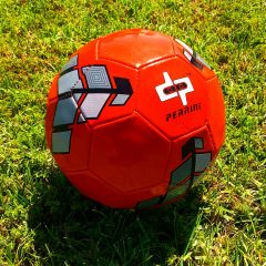 Perrini Soccer Ball Size Red & Grey Trim Outdoor Sports Match Practice Official 5