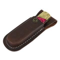 "TheBoneEdge 9"" Hand Made Damascus Blade Folding Knife Pakkawood Handle Pink New"