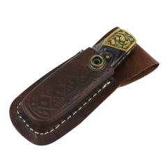 "TheBoneEdge 7"" Hand Made Damascus Blade Folding Knife Pakkawood Handle Black New"