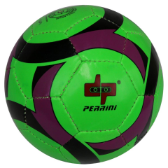 Perrini Soccer Ball Green/Black/Purple All Weather Indoor Outdoor Official Size5