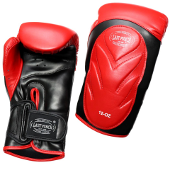Last Punch Pro Style Training Sparring Boxing Gloves - Red & Black 12 Oz
