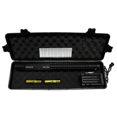 """13.5"""" Black Tactical Stun Gun w/ LED Flash Light Case Rechargeable Safety Switch"""