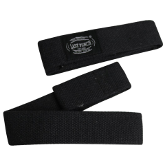 Last Punch Black Weight Heavy Lifting Assist Wraps Pad Cushion Wrist Support