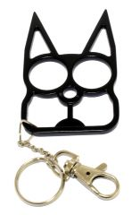 Cat Self Defense Keychain -Black