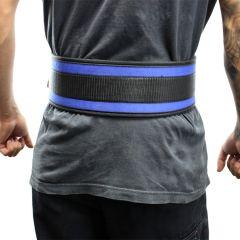 "Last Punch® 4"" Nylon Power Weight Lifting Belt / Back Support Belt Blue"