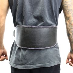 """Last Punch 6"""" Fitness Leather Weight Lifting Belt Padded Black Good Quality all Sizes"""