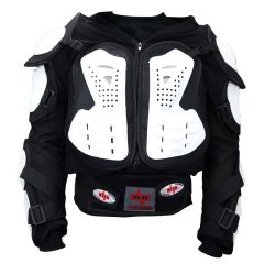 CE Approved Perrini Full Body Armor Motorcycle Jacket Shirt White