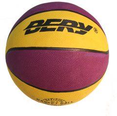Unisex Indoor Outdoor Performer Purple & Yellow Basket Ball Size 7