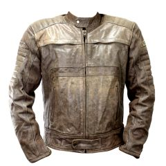 Perrini New Men's Buffalo Motorbike Genuine Leather Biker Jacket Motorbike Leather Top