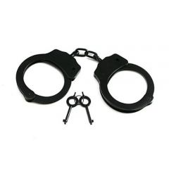 Black Colored Chained Heavy Duty Handcuffs