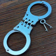 Stainless Steel Hinged Heavy Duty Handcuffs