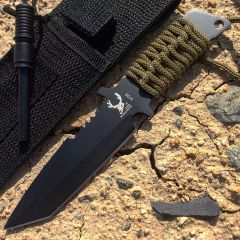 "7""  Hunting Knife with Fire Starter Carbon Steel Blade"
