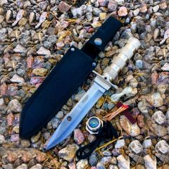 "10.5"" Stainless Steel Blade Survival Knife with Sheath Heavy Duty"
