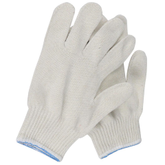 White Cotton Polyester Blend String Knit Gardening Mechanic Handling Work Gloves