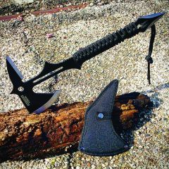 "15"" Full Tang Hunting Axe Stainless Steel Blade Nylon Handle with Sheath"