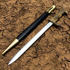 "15"" Eagle Design Handle Dagger Stainless Steel with Sheath"