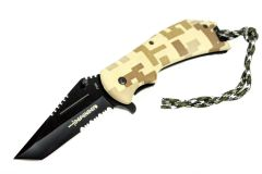 "8"" Defender Digital Desert Camo S/A Folding Knife"