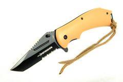 """8"""" Defender Light Brown S/A Folding Knife"""